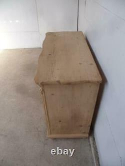 A Georgian Large Antique/Old Pine 2 Door 1 Drawer Dresser Base to Wax/Paint
