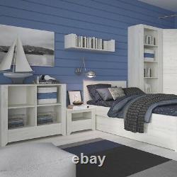 Angel White Oak Bedroom Furniture Wide Large 1 Door 5 Drawer Chest Of Drawers