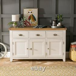 Cheshire Cream Painted Large 3 Drawer 3 Door Sideboard Cupboard WW37