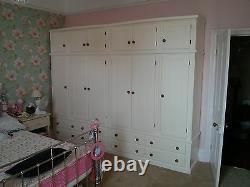 Classique 6 Door 8 Drawer Ex-large Robe + Topbox Cream/pine Knobs