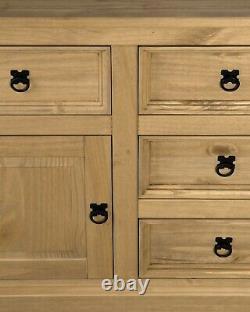 Corona 2 Door 5 Drawer Large Sideboard Mexican Pine