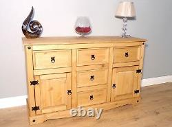 Corona Sideboard Large 2 Door 5 Drawer Solid Mexican Pine by Mercers Furniture