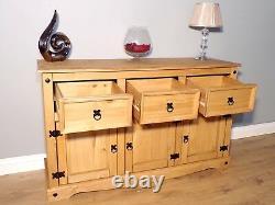 Corona Sideboard Large 3 Door 3 Drawer by Mercers Furniture