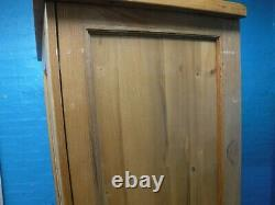 DOVETAILED SOLID CHUNKY OAK WOOD LARGE 2DOOR 1DRAWER WARDROBE H193 W113 see shop