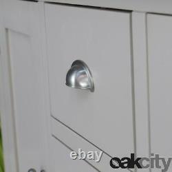 Dorset Grey Oak Sideboard Large 2 Door 3 Drawer Cabinet Truffle Grey