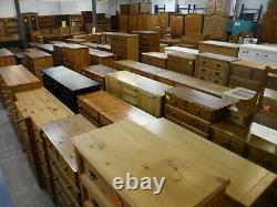 Dovetailed Solid Wood Large Quad 4door 4drawer Wardrobe + Topboxes- See Shop
