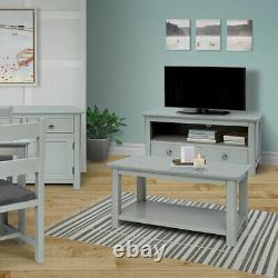 Elgin Easy Build Grey & Bonded Glass Living and Dining Furniture