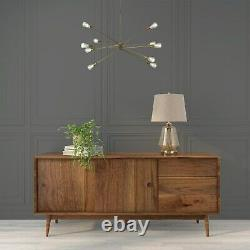 GRADE A2 Walnut Sideboard with Sliding Doors & Drawers Briana
