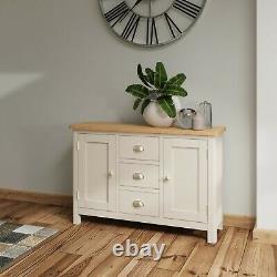 Grey Large Sideboard / Dovedale Painted Oak Wood Cupboard / Cabinet Doors Drawer