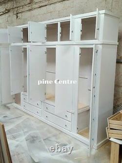 Handmade Aylesbury (white) 4 Drawer 6 Doors + Top Box Large Wardrobe