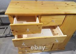 Handmade Dewsbury Solid Pine Antique Large Chest Of Drawers With Door Assembled