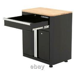 Husky Garage Base Cabinet Steel 1-Drawer 2-Door Black (28'' W x 33 H x 18)