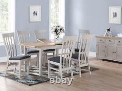Kelowna Grey Painted Oak Large Sideboard 3 Doors 3 Drawers Dining Room Furniture