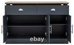 Kendal 3 Door 2 Drawer Large Sideboard Slate Blue