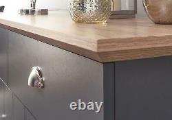 Kendal Large Sideboard Storage Unit 2 Drawers 2 Door Cupboard Cabinet Slate Blue
