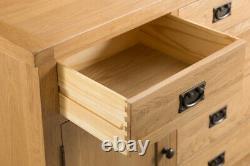 Kingsford Oak Large 2 Door 6 Drawer Sideboard / Rustic Storage Cabinet Cupboard