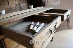 Large French Antique 19th Century Oak Dresser / Buffet a Deux Corps / Cupboard