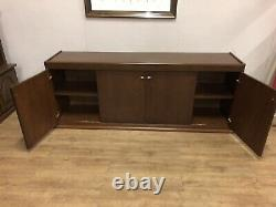 Large Heavy Solid American Buffet 4 Drawer Sideboard With Sliding Doors