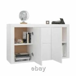 Large White Sideboard Cupboard Storage Unit Side Cabinet Modern Buffet Dresser