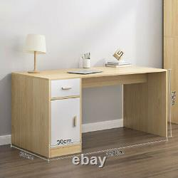 Large Wide Computer Desk PC Laptop Study Table Home Workstation With Drawer&Door