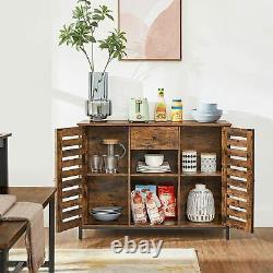 Large Wooden Sideboard Slim Cabinet Industrial Cupboard Buffet Narrow Storage
