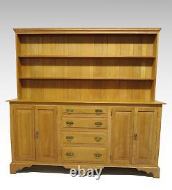 Large golden oak dresser 4 cupboard doors 4 drawers #2596