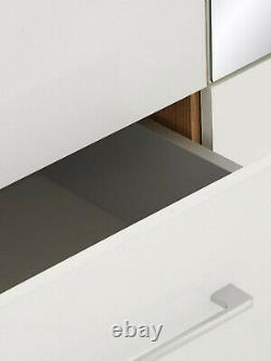 Littlewoods Amalfi Mirrored Large 3 Three Door White & Oak Wardrobe 2 Drawers