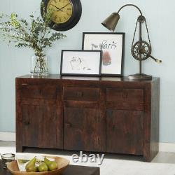 Modern Dakota Mango Solid Wood 3 Drawers and 3 Doors Large Sideboard Furniture