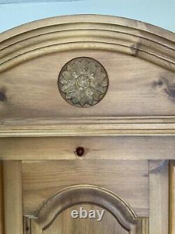 Modern Wardrobe, triple, large 2 Door, 5 Drawers, Solid Pine, superb Quality