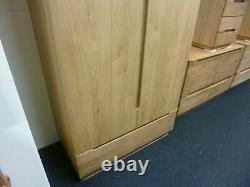New Large Scandinavian Solid Oak 2 Door 1 Drawer Wardrobe Christopher Pratts