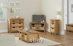 Oakvale Extra Large Sideboard / Solid Wood 4 Drawer 4 Door Side Storage Cabinet