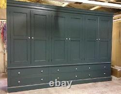 Painted 6 Door Wardrobe Edwardian Style with 6 large drawers