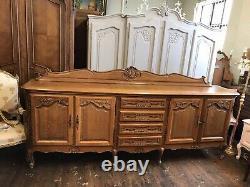 Quality / Vintage French Louis XV Style 4 Door/4 Drawer Large Sideboard