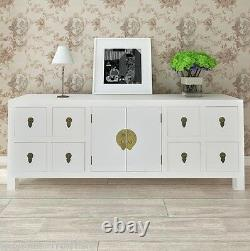 Sideboard Large Storage Wooden Cabinet Drawer Doors Wood Hallway Furniture Asian