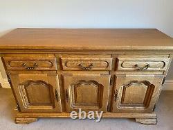 Solid Oak Sideboard Large 3 Cupboards & 3 Drawers Alan Ward