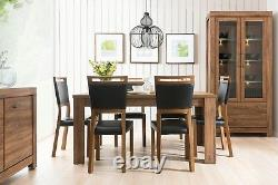 Tall Glass Large Display Cabinet Oak effect LED Lights Soft Close Drawers Gent