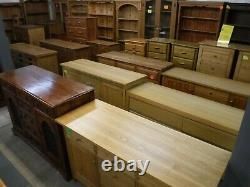 USED DOVETAILED LARGE SOLID WOOD 2DOOR 5DRAWER WARDROBE H211 W162cm- SEE SHOP