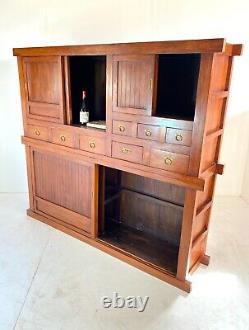 Very Large Haberdashery, Apothecary Cabinet / Sideboard / Dresser / Drawers Teak