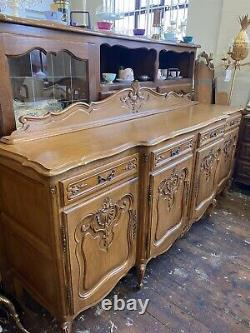Vintage French Louis XV Style 4 Door/4drawer Large Sideboard