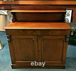 Vintage Sideboard / Solid Wood / 2 Door Cupboard / 1 Large Drawer / Storage /