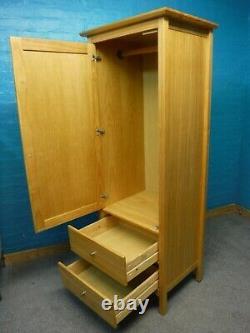 1 De2 Solide Bois Single Single 1door 2drawer Wardrobe H188 W71cm Voir Shop