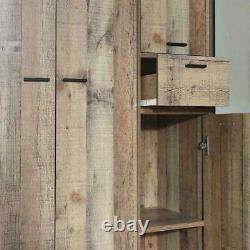 4 Portes Grande Armoire Avec Tiroir Rustique Stretton Chambre À Coucher Industrielle Urbaine