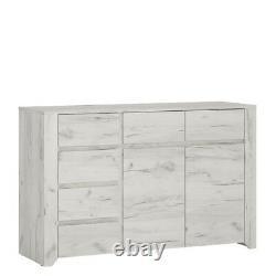 Angel White Oak Bedroom Furniture Extra Large 2 Porte 3+3 Unité De Coffre À Tiroirs