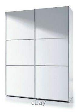 Arc 2 Porte Coulissant Garde-robe Placard 150cm X 200cm Grand Blanc + 3 Coffre Tiroir