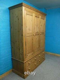 Bois Solide Dovetailé Large 2poor 4drawer Wardrobe H211 W155cm- Visite Notre Shop