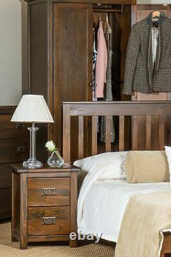 Boston Dark Wood Bedroom Range Large 2 Porte 2 Tiroir Large Garde-robe