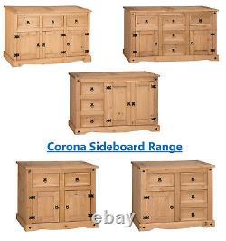 Buffet Corona Grand Petit Faible 1 2 3 4 5 Tiroir De Porte Mexicain Pine Solide