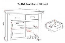 Buffet De Tiroir Tortilla 2 Door 2 En Pin Craqué Décontractionné