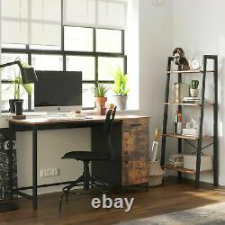 Bureau D'ordinateur Rustique Tiroir De Porte Cabinet D'écriture Industrielle Grande Table Pc