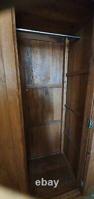 Chêne Massif 2 Porte 3 Tiroir Grande Armoire